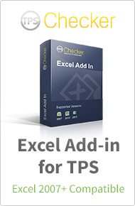 Excel Add-in for TPS Checker