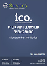Check Point Claims Ltd Monetary Penalty Notice
