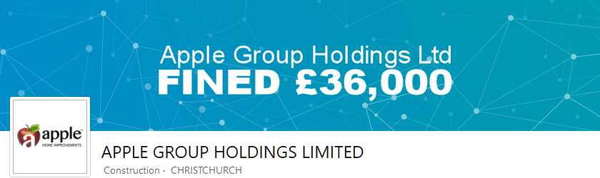 Apple Group Holdings Ltd fined £36,000 by Trading Standards