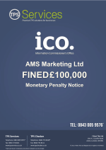 AMS Marketing Ltd Monetary Penalty Notice as issued by the ICO