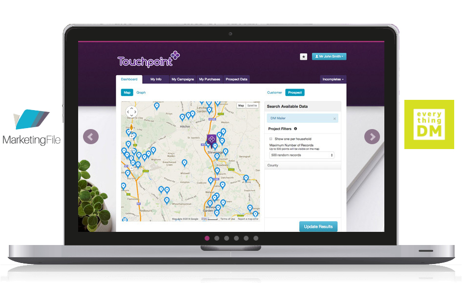 Marketingfile Touchpoint online interface
