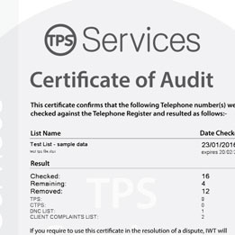 TPS services launches Proof of Screening Certificates