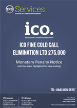 Cold Call Elimination Ltd Monetary Penalty Notice
